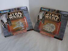 Star Wars MicroMachines Diecast X-Wing & Millennium Falcon Lot of 2 NOC Galoob