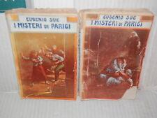 I MISTERI DI PARIGI 2 Volumi Eugenio Sue Bietti 1950 libro romanzo narrativa di