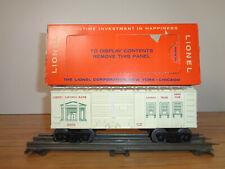 LIONEL O GAUGE # 6050 LIONEL SAVINGS BANK BOX CAR AND WORN BOX