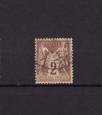 timbre France  Sage   2c  brun rouge     num: 85    oblitéré
