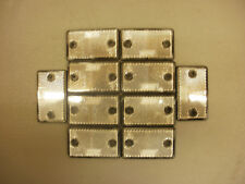 10 x white ***SQUARE*** Reflectors for Driveway Gate Fence Posts & Trailers