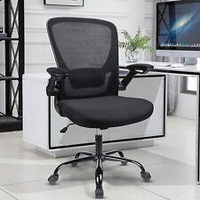 Ergonomic Chair Home Office Flip Chair Mesh Mid Back Task Chair Computer Chair