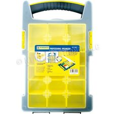 PROFESSIONAL 15 REMOVABLE COMPARTMENTS ORGANISER TOOL/SCREW STORAGE CASE/BO