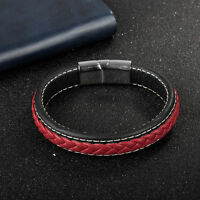 Simple Leather  Braided Bracelet For Men Boyfriend Gifts Bangle Accessories