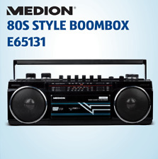 Refurbished Medion 80S Style Boombox E65131 Bluetooth USB FM Recorder