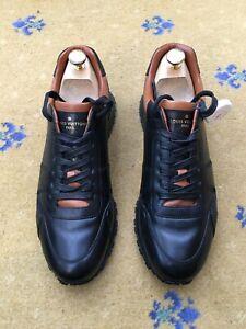 Louis Vuitton Men Shoes Trainer Sneaker Black Leather UK 9 US 10 EU 43 Run Away