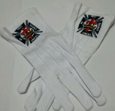 MASONIC FREEMASONS KNIGHTS TEMPLAR EMBROIDERED DRESS GLOVES