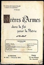 Frères d'armes dans la foi pour la patrie N°13 Janv. 1917 l'amitié des tranchées
