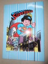 Superman Virca Baby Super Man Carpetta Elastico SCHOOL FOLDER Vintage