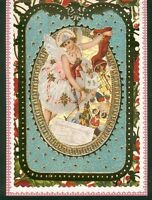 Carte de voeux style vintage Noel ange avec enveloppe blanche 17 cm x 12 cm