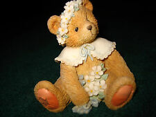 "1993 P. HILLMAN TEDDY BEAR FIGURINE~""MAY""~LIC. ENESCO CORP.~#5P18/580~SO CUTE~"
