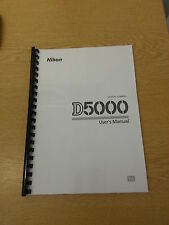 NIKON D5000  DGITAL CAMERA FULLY PRINTED USER MANUAL GUIDE HANDBOOK 256 PAGES