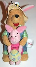 """Disney Store Winnie Pooh Plush With Piglet Easter Egg 8"""""""