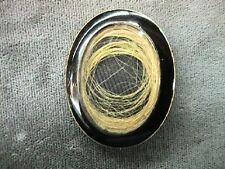 Heniretta And Elizabeth Dec 25 1845 Blk Enamel Antique Mourning Brooch Engraved