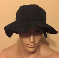 Polo Ralph Lauren Hat Large / Xlarge Tartan Waxed  Black / Green  bucket hat