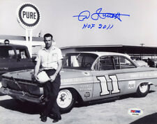 Ned Jarrett SIGNED 8x10 Photo + HOF 2011 NASCAR LEGEND PSA/DNA AUTOGRAPHED