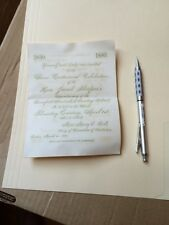 Vintage Invitation Jacob Sleeper rare Bromfield Street Church Boston University