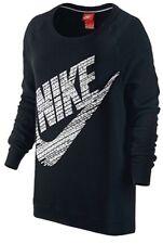 NWT Women's NIKE RALLY BOYFRIEND CREW Sweatshirt Black SZ XSMALL