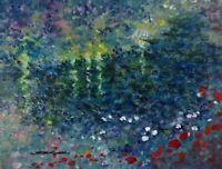 "ORIGINAL Signed Lake PAINTING ""Victor"" 12x16 impressionism canvas Steven Graff"
