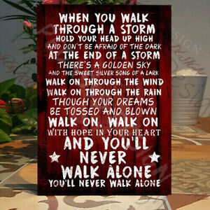 Liverpool, You Will Never Walk Alone sign, Liverpool Chant, Fan gift,Wooden Sign
