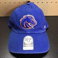 '47 Brand Boise State Broncos Clean Up Adjustable Strapback Hat Cap Blue NEW