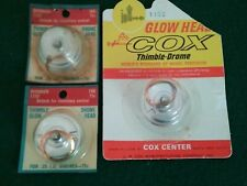 3 Nos Cox Thimble-Drome #1102 Glow Heads w/Gasket for .15 Model Airplane Engine