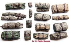 1/35 Scale resin kit Tents & Tarps Set  #6 Military model stowage