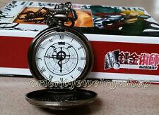 Fullmetal Alchemist Pocket Watch /Edward Elric Pocket Watch + Box
