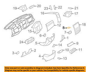 Mercedes MERCEDES-BENZ OEM Sprinter 3500 Instrument Panel Dash-Pad 9016950097