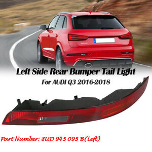 Left Rear Bumper Lower Tail Light Reverse Stop Lamp For AUDI Q3 16-18 8UD945095