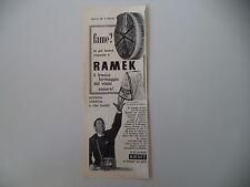 advertising Pubblicità 1961 FORMAGGIO FORMAGGINO RAMEK KRAFT