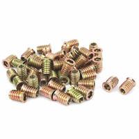 M8 x 20mm Furniture Hex Key Type E-Nut Wood Insert Interface Screws Nuts 50pcs