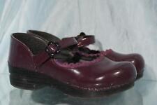 Nice DANSKO Plum Patent Leather Mary Janes Clogs Eur 32 US 13
