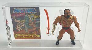 MOTU Vintage Loose Jitsu with Comic Series 3 No COO Mattel 1984 AFA UKG 85%