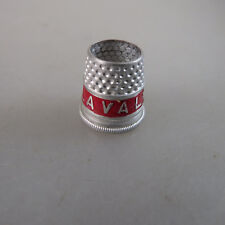 Settmacher Fingerhut Werbung Alfa Laval rot Aluminium (47356)