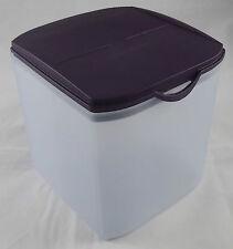 Tupperware Eidgenosse Plus 3,4 l Schüttbehälter Klappdeckel Weiß / Lila Neu OVP
