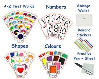 Numbers Shape Colours First Word A Z Flash Cards Early Learning Resource EYFS