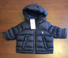 NEW! RALPH LAUREN POLO BABY WINTER PUFFER ZIPPER JACKET NAVY 3 MONTHS