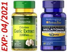 Mélatonine 10mg 60 Caps-Odorless Ail 1000mg 100 Sofgel Cholestérol Anti-oxydant