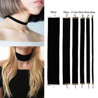 Sexy Retro Jewelry Gothic Handmade Black Velvet Charm Women Choker Necklace Gift