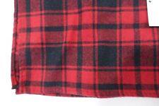 BAR III 3 PLAID RED BLACK SOFT HANDKERCHIEF POCKET SQUARE MENS NWT