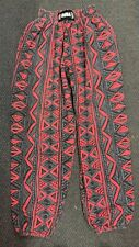VTG 90s Hip Hop Skater Ruba Muscle Hammer Pants Abstract Surf Multi Color