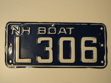 EXPIRED VINTAGE NEW HAMPSHIRE BOAT License Plate L306 NH