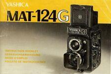 Instruction User's Manual Yashica MAT-124G Multilingual