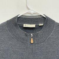 Donald Ross Men's 1/4 Zip Merino Wool Pullover Gray 2XL NWOT