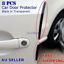 8 Pcs Black Car Side Door Edge Protector Defender Trim Guard Protection Strip