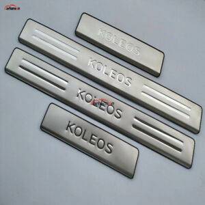 For Renault Koleos Car Accessories Door Sill Strip Protector Scuff Plate 2017-21