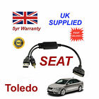 SEAT Toledo (6J0051700B) For Apple iPhone 3GS 4 4S iPod Audio Cable
