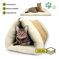 Cosy 2 In 1 Warm Igloo Bed For Pet Cat/Kitten Plush Cave/House/Mat(SC985)