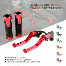 CNC Short Brake Clutch Lever & Handle Grips Bar for Kawasaki Z750 Z 750 07-11
